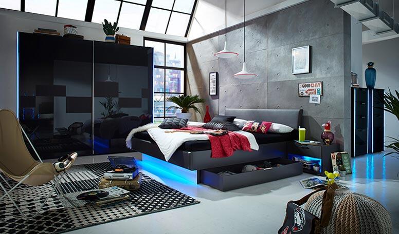 Boxspringbett 160×200 Dänisches Bettenlager | Schlafzimmer Bett ...